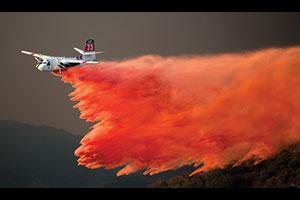 Fixed-wing aircraft is responsible for the most impact on large, fast-moving fire fronts. (Photo by John Cetrino.)