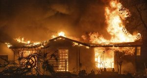 house burns in Zogg fire