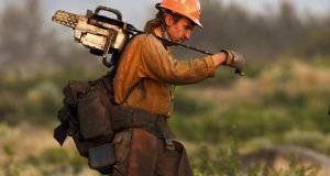 Firefighter at Lava Fire in California