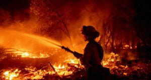 Firefighter at Fawn Fire in California