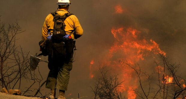 Firefighter at Alisal Fire